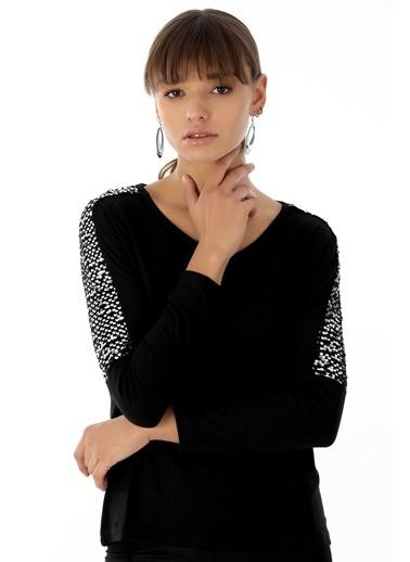 Emjey Bluz Siyah